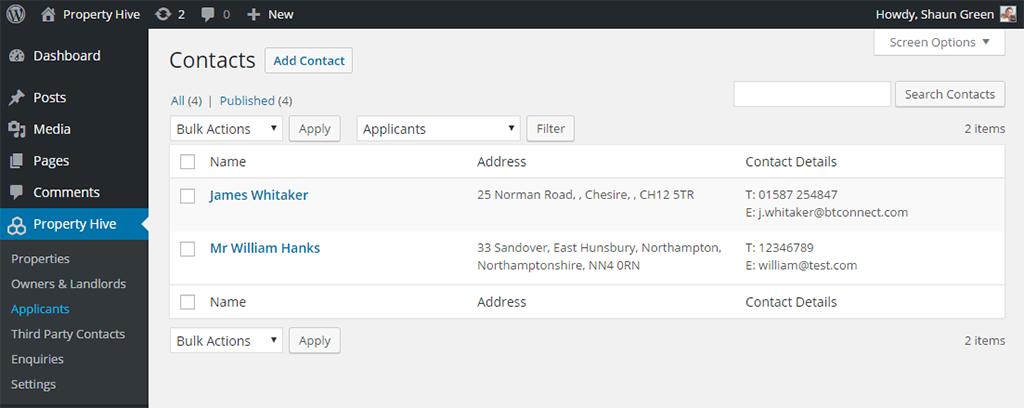 Property Hive Applicants