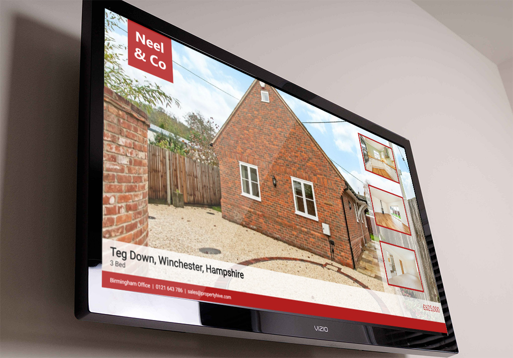 Property Digital Display on TV