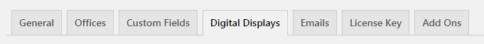 Digital Window Display Settings Tab