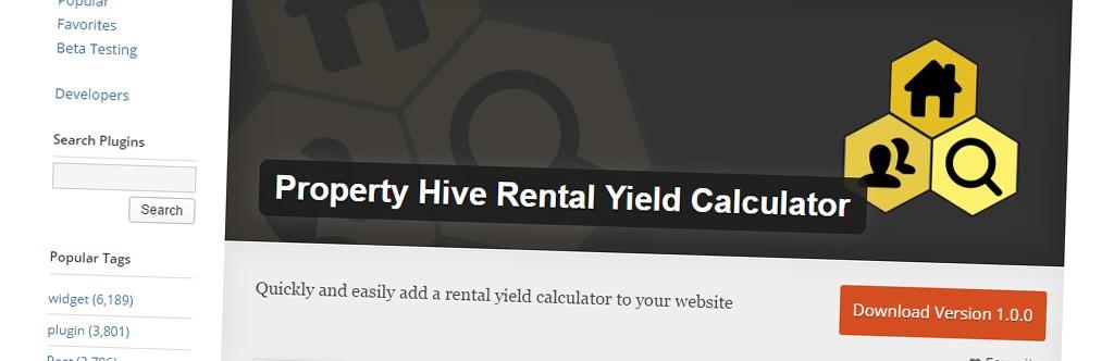 New Free Add On Released: Rental Yield Calculator