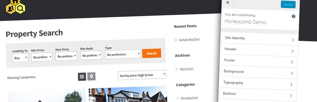 Honeycomb Is Launched, Our Free Estate Agency Theme