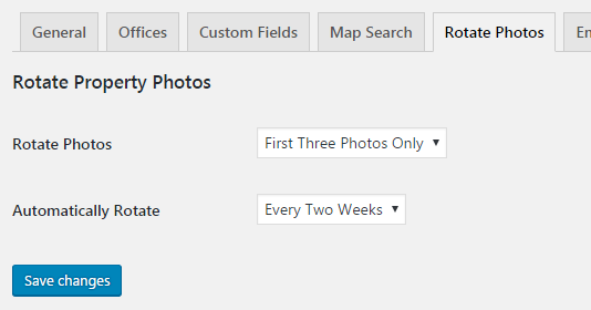 Property Hive Rotate Photos Plugin Settings
