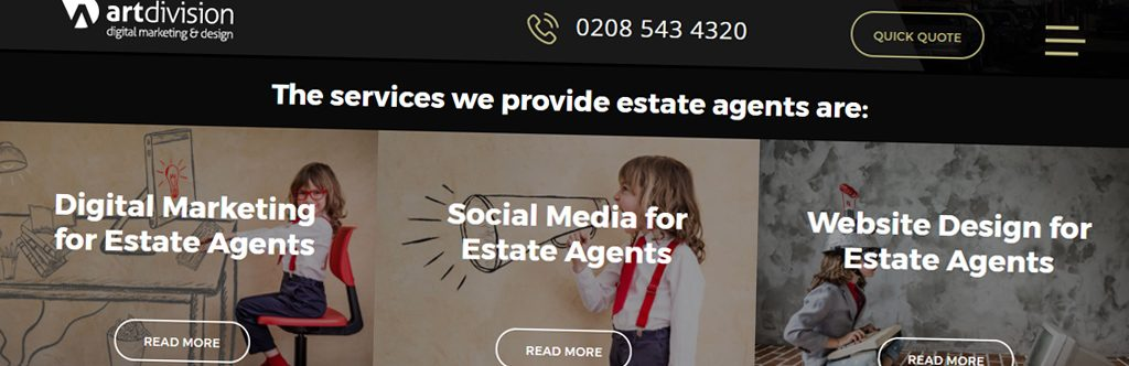 Art Division Launch Set Of Property Hive WordPress Templates For Estate Agents