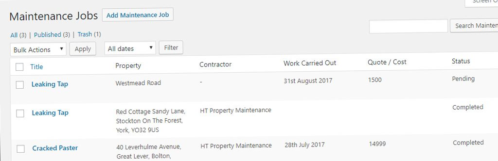 Manage Property Maintenance Jobs With Our Latest Add On