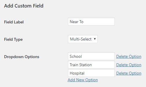 Multi-select custom fields