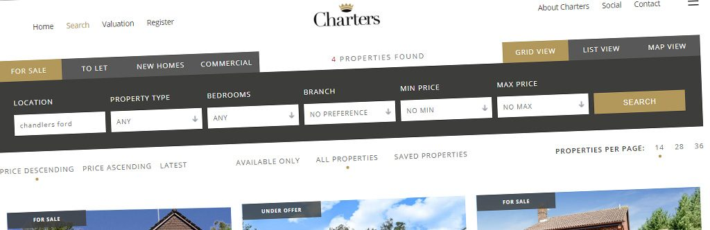 Charters Launch New Website Using Property Hive