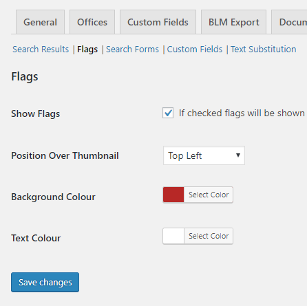 Template Assistant Flag Settings
