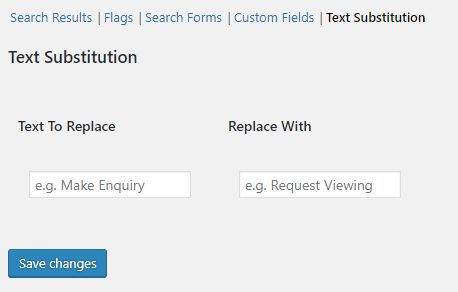 Text Substitution Settings