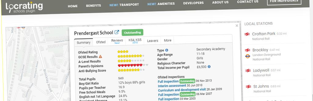 New WordPress Locrating Schools Add On