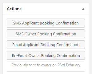 SMS Confirmation Viewing Actions