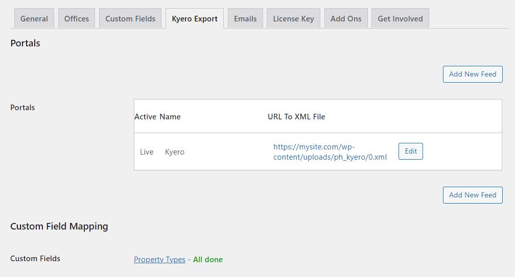 WordPress Kyero Portals List