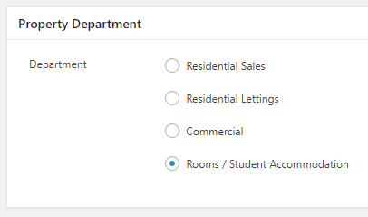 Rooms / Student Accommodation Department