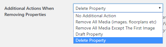 WordPress Property Import Remove Actions
