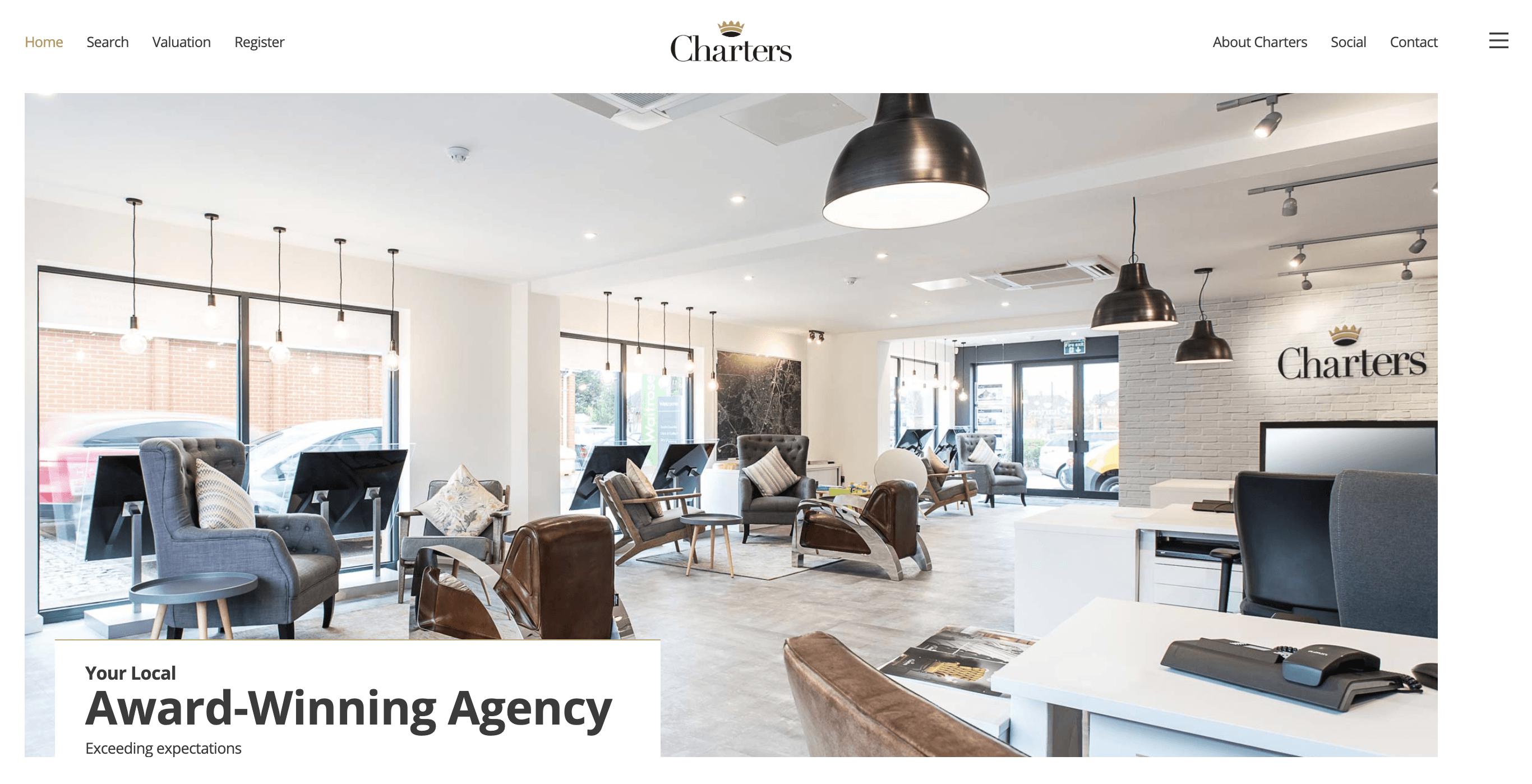 Charters Estate Agency website