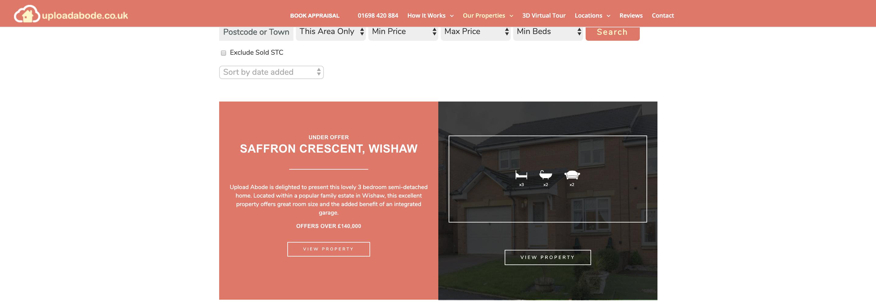 Upload Abode Estate Agency Website