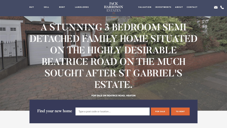 Jack Harrison Estates Website Image