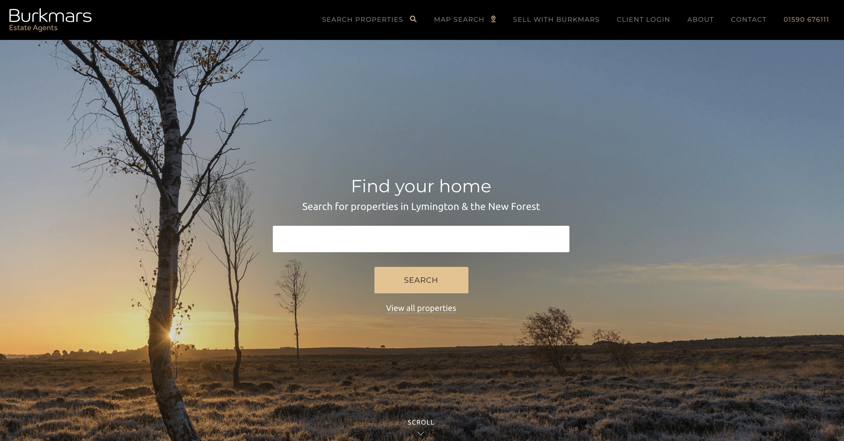 Burkmars estate agency website image