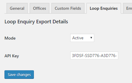 Loop Enquiry Settings