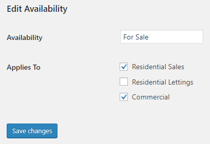 Availability Departments