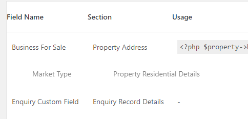 Sortable Additional Fields
