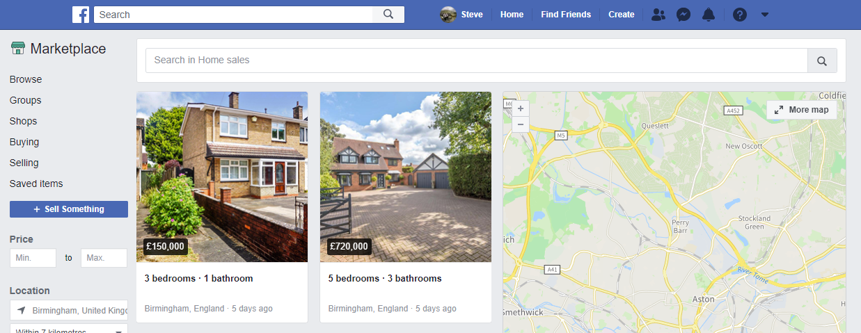 Facebook Marketplace Properties