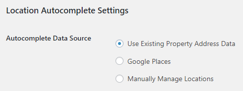 Location Autocomplete Settings