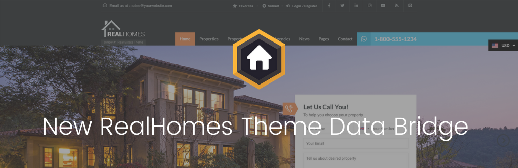 New RealHomes Theme Data Bridge Released