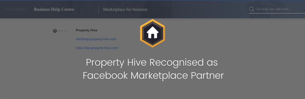Property Hive Recognised as Facebook Marketplace Partner