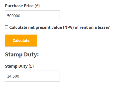 Commercial Stamp Duty Calculator