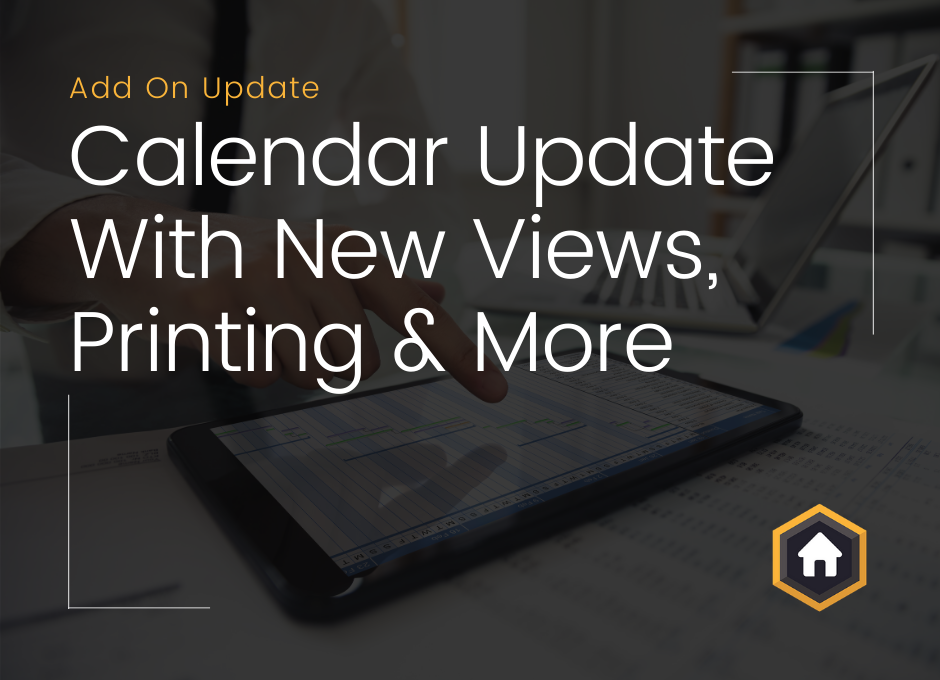 New Calendar Add On Update Including New Views, Printing and More