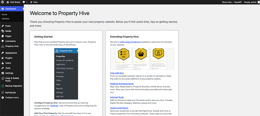 Using TasteWP To Test Property Hive