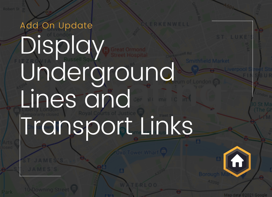 Map Add On Update: Display Underground Lines and Transport Links