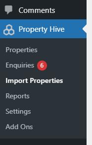 Import Properties WordPress Menu Item