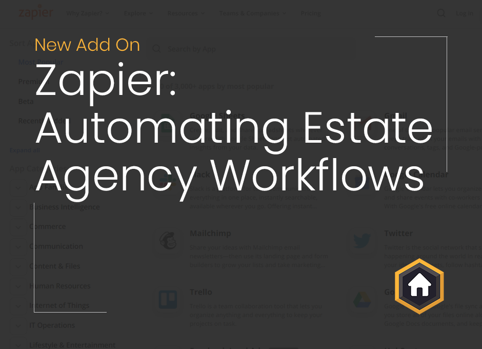 Boost Productivity and Automate Workflows With Our Zapier Integration For Estate Agents
