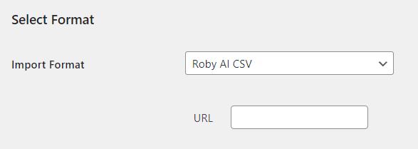 Roby AI WordPress Property Hive Import Settings