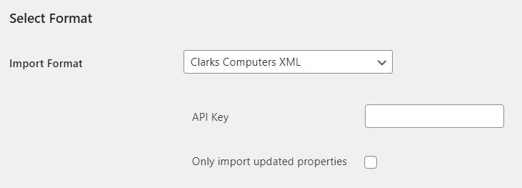 Clarks Computers Property import Setup